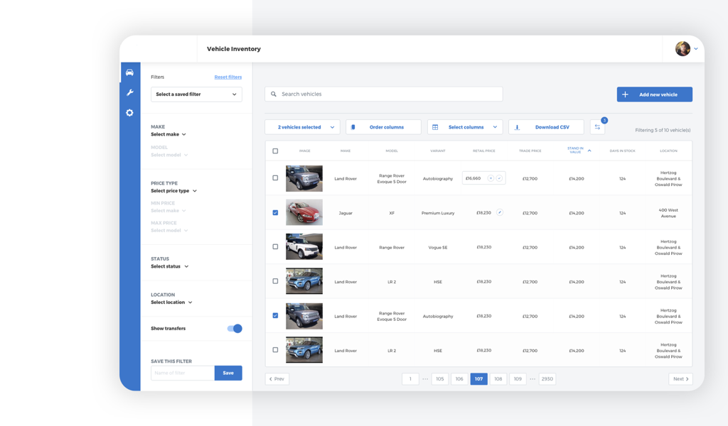 inventory management system ui design