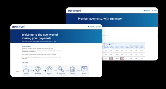 Pay journey - mockup